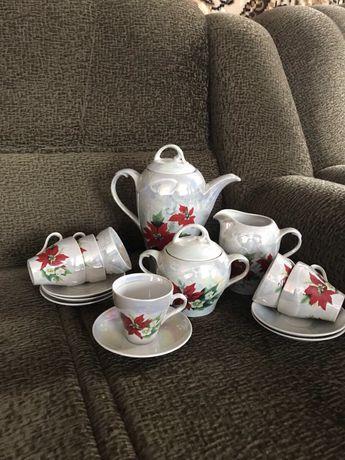 Очень красивый перламутровый чайный сервиз Днепр - изображение 3