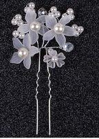 biżuteria ślubna do włosów - wsuwka z perełkami komunia