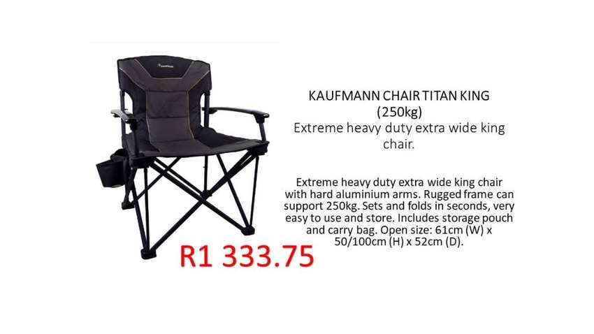 Camping Chairs (250kg)