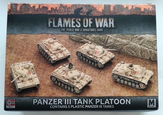 5 niemieckich czołgów Panzer III, Flames of War, plastik, nowe Bielsko-Biała - image 1