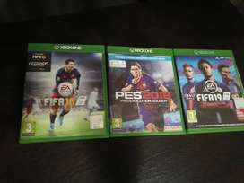 Fifa 19, Fifa 16 Legends and PES 18(Xbox one)