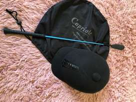 Capriole high protection helmet and crop