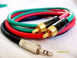 Кабель инсертный Jack -> RCA+RCA, Jack+Jack, XLR+XLR GoodCable