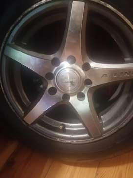 Mag wheel with tires