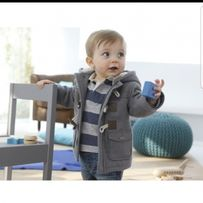 Пальто тёплое на мальчика на меху с мехом 1, 2, 3, 4, 5, 6 лет