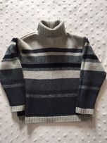 Gruby sweter / golf Cottonfield, wełna 100% S/M