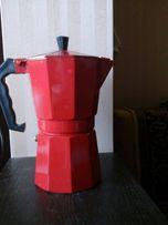 кофеварка гейзерная красная