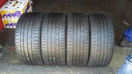 FRONT AND BACK RUNFLAT TYRES