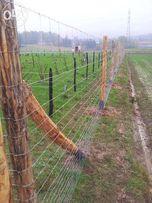 Siatka ogrodzeniowa leśna 160/20/15 L 50 metrów na kury 160 cm wys.