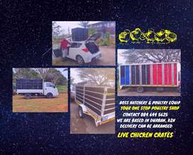 Live Chicken Crates - Boss Hatchery & Poultry Equipment