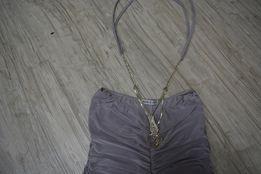 Нарядное платье серое размер M