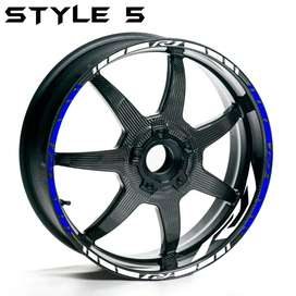 YAMAHA YZF R1 MOTORCYCLES WHEEL RIM STRIPES TAPE DECALS STICKERS FULL