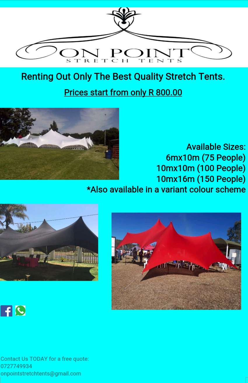 Stretch Tents for hiring 0