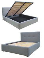 Łóżko CLARK 160x200 Pojemnik, Stelaż PREMIUM, Wysoka Jakość