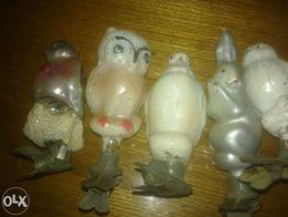 Елочные игрушки на прищепках