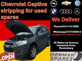 Chev Captiva stripping for used replacement spares