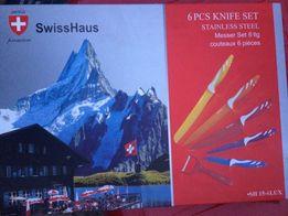 Набор новых оригинальных Швейцарских кухонных ножей SwissHaus