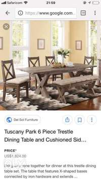 Solid mahogany dining table made to order get yours today 0