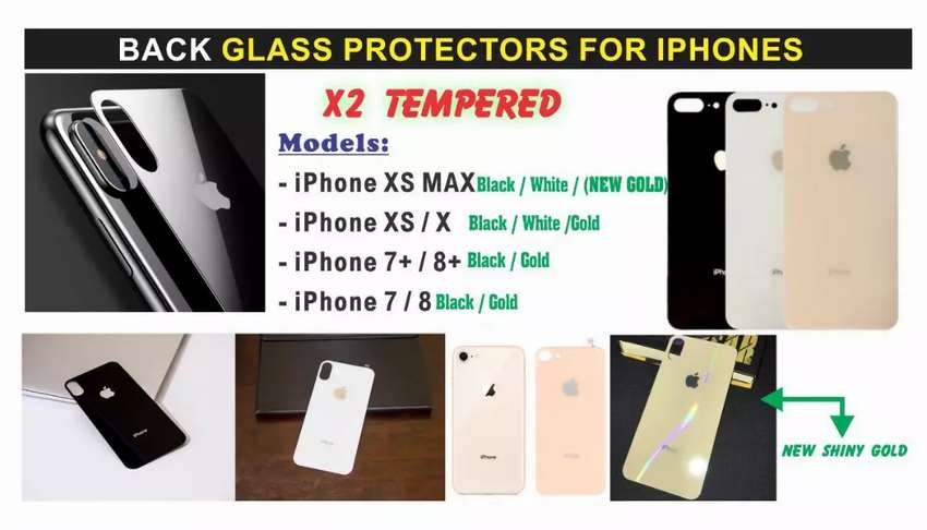 Back Glass Protector For Iphone Xs & Xs Max 0