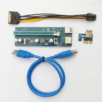 Райзер майнинг PCI-E Express 6 pin/Molex USB 3.0 - Pci Riser НАЯВНІСТЬ
