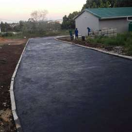 Tarring and driveways including carpots