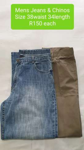 2nd Hand Mens Denims & Chinos Size 38 R150 eqch