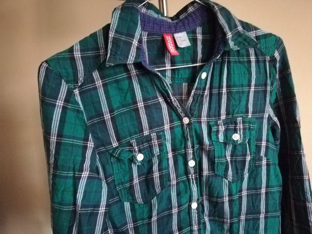 Koszula w kratę H&M rozmiar 34 zielona Ruda Śląska - image 1