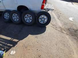Toyota hilux srx rims and dunlop tyres