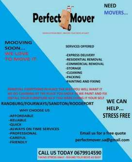 PERFECT MOVER WE MOVE WE CLEAN WE FIX
