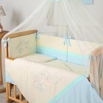 Комплект постельного (подушка одеяло защита) белья в детскую кроватку