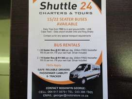 bus hire 22 and 15 seater