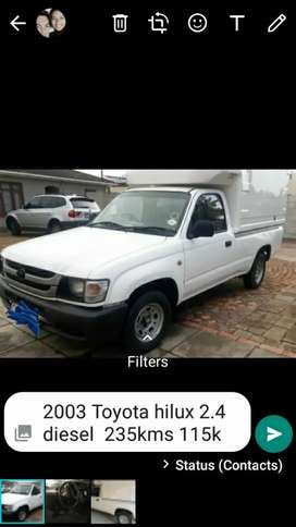 2003 Toyota hilux 2.4 diesel lwb with nose cone canopy