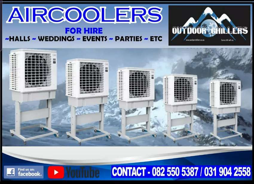 Air cooler for hire aircons for hire durban, Outdoor Chillers, sunbow 0