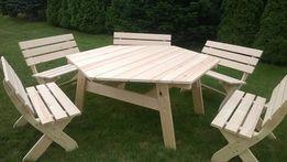 Meble Ogrodowe 12 osób stół + 6 ławek