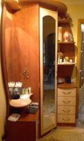 прихожая шкаф угловой с двумя зеркалами