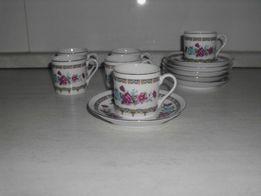 Zestaw 6 filiżanek z podstawkami chińska porcelana ręcznie malowana