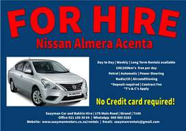 Nissan Almera Acenta Automatic for Hire
