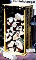 stojak regał na drewno kominkowe LITE DREWNO impregnowane