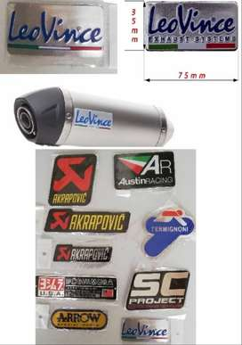 KTM Leo Vince heat proof aluminium exhaust silencer decal badge