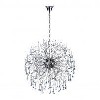 Kryształowa lampa kula Glamour 70 cm Paul Neuhaus sala weselna NELLI