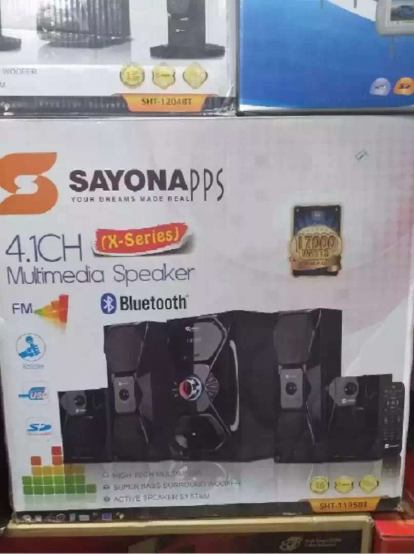 Brand New Sayona 4.1 Woofer SHT 1148BT 16000Watts Bluetooth Speakers 0