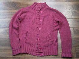 Sweter purpurowy fioletowy na guziki La Redoute 42 44 L