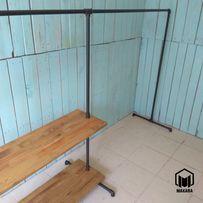 №7 Вешалка loft мебель лофт стойка для одежды из труб торговая