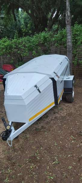 """Challenger 6ft trailer with 13"""" mag wheels"""