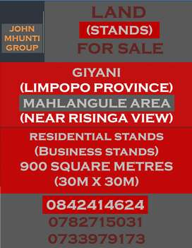 VACANT LAND (STANDS) FOR SALE IN GIYANI (LP) R25'000 KHOSA FAMILY LAND