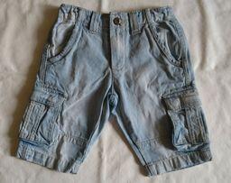 Debenhams Фирменные стильные светлые джинсовые шорты на мальчика 5-7ле