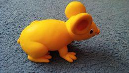 mysz żółta gumowa