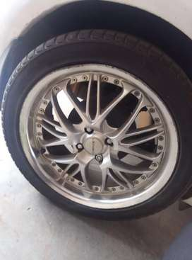 17' Lenso rims with tires