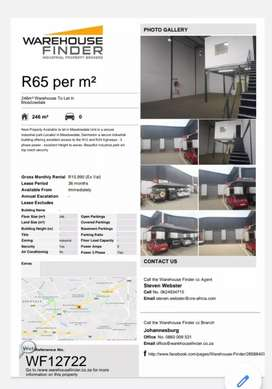 Warehouse with mini office available