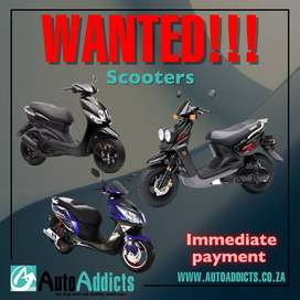 SCOOTERS WANTED